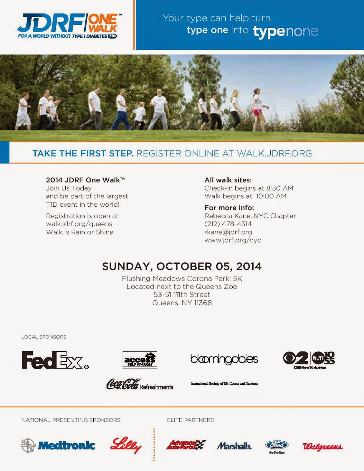 jdrf walk in flushing meadow this sunday