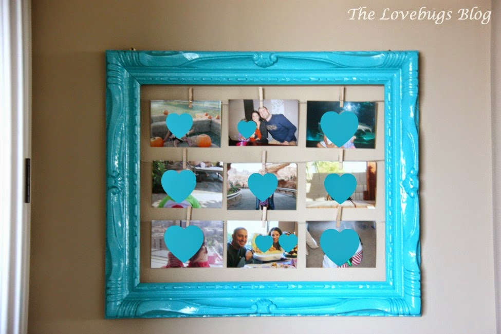 DIY Clothespin Photo Display Frame