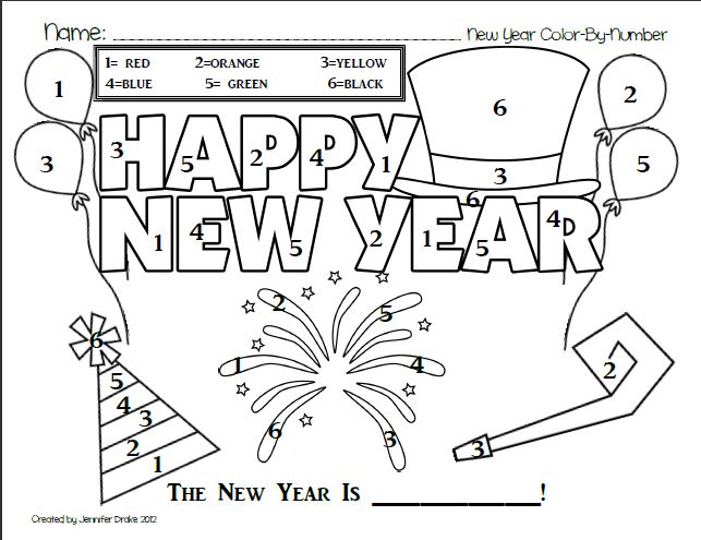 New Year Coloring Pages For Kindergarten : Primary in idaho december