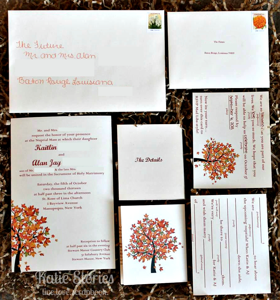 Katie Stories {Scrapbook + Crafting Blog}: {Wedding} Invitations and ...