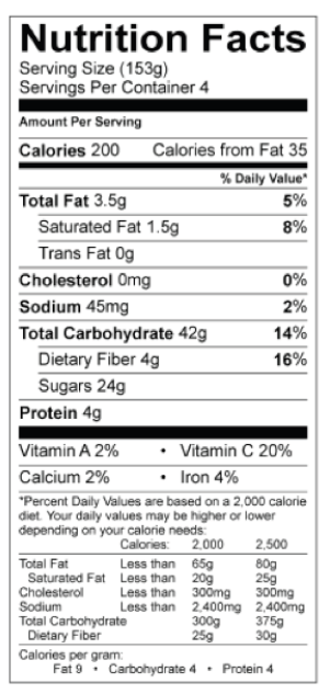 Nutrition Facts Chocolate Chip Cookies At Servo Gettysburg College