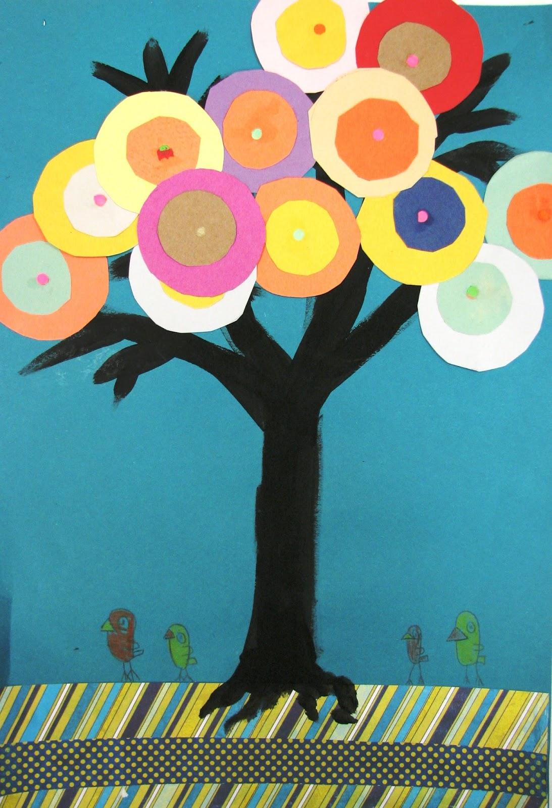 2nd Grade, Kandinsky Trees | Art Lesson Plans K-12