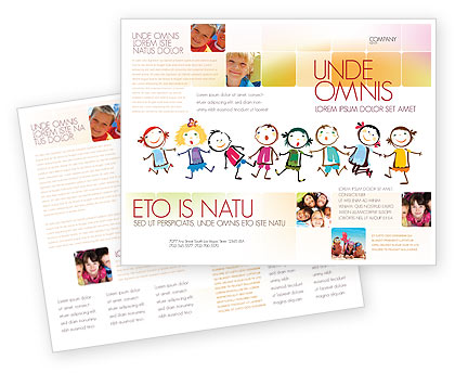 Brochure zafira pics brochure template for kids for Brochure template for kids