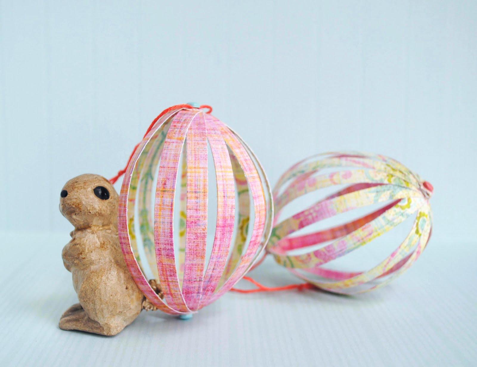Zakka life craft paper easter eggs