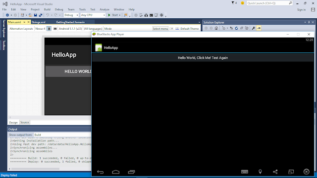 Run Visual Studio 2015 Solution Of Xamarin-Android App On Bluestacks App Player
