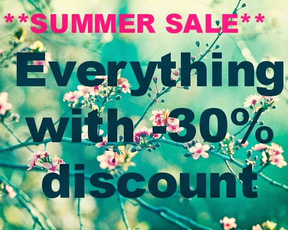 BIG SUMMER SALE ends 31st of September