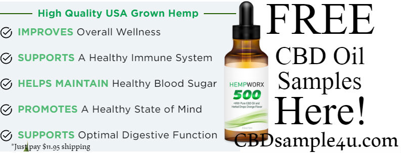 CBD FREE Sample Hempworx 500
