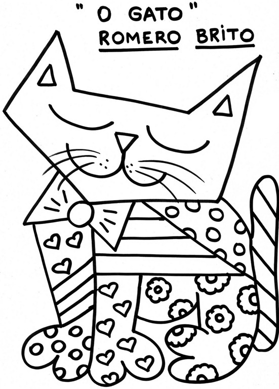 Britto Coloring Pages Romero Britto Coloring Pages