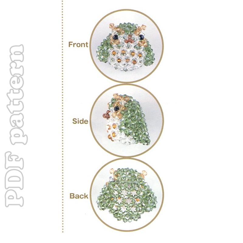 3d beads owl swarovski beading pattern pdf