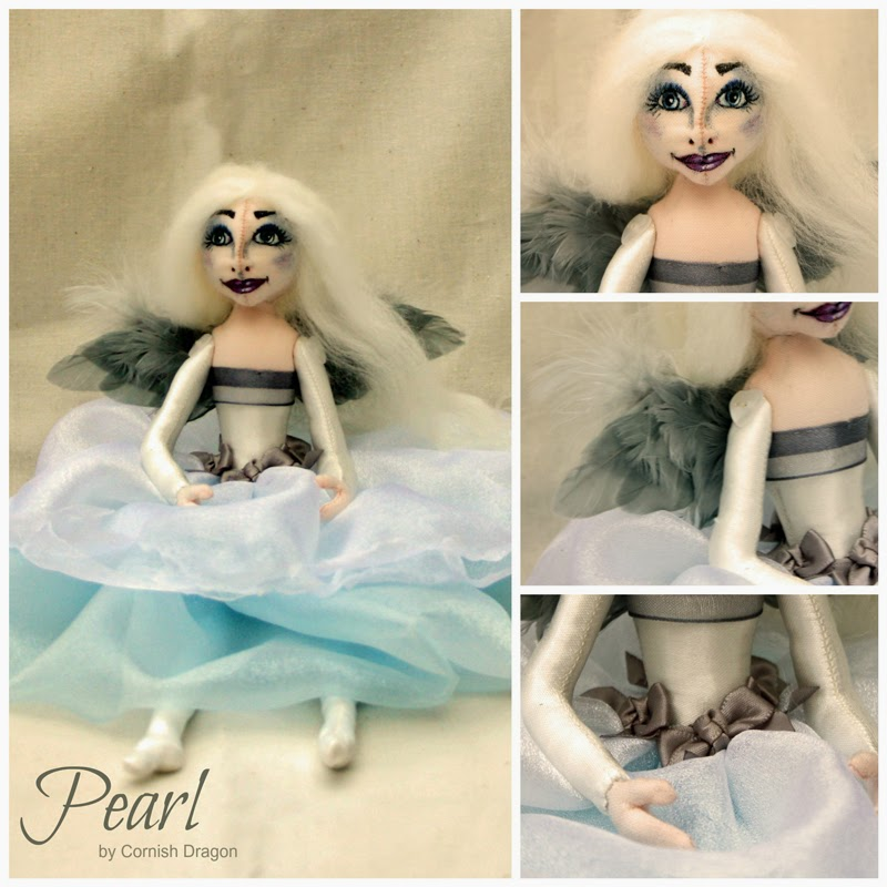 pearl cloth art doll