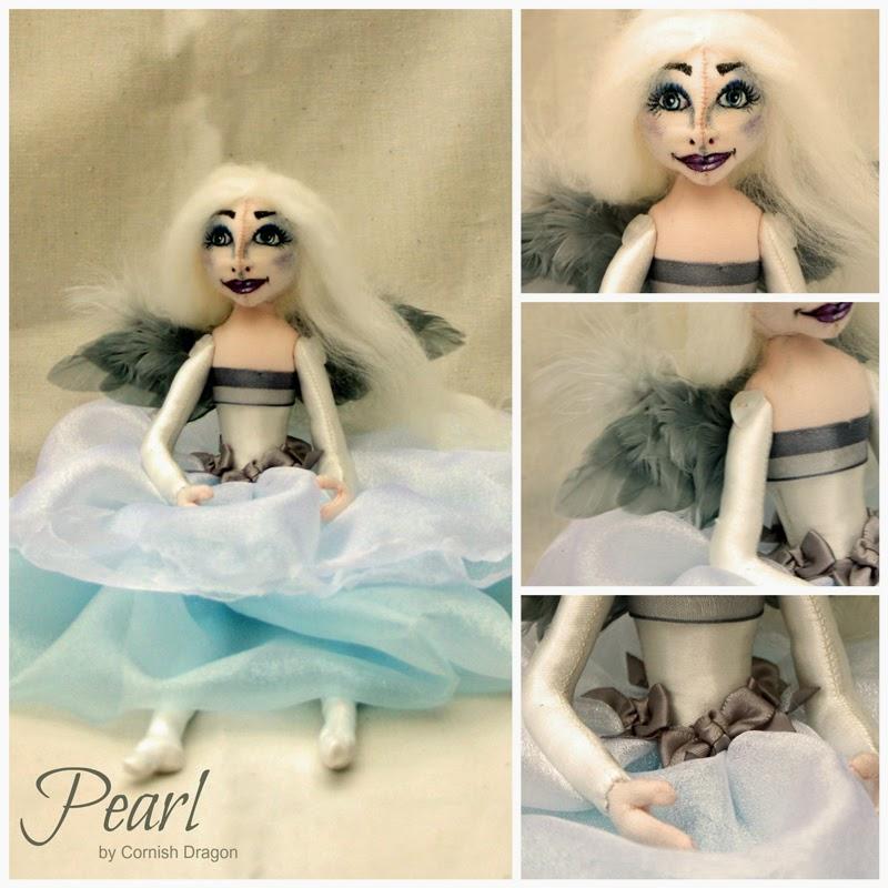 pearl cloth art doll