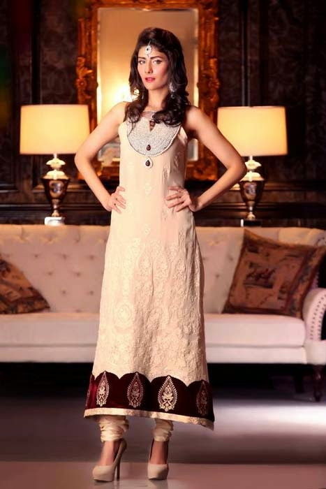 Threads and Motifs New Stylish Winter Dresses Collection 2014 For Women And Girls