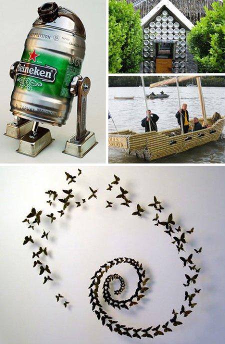 De mathaji para mathaji reciclando latas for Diy beer can art