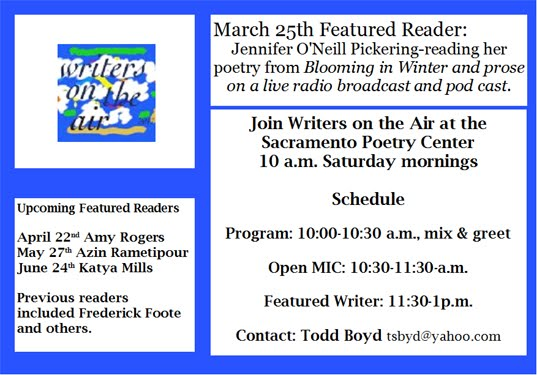 WRITERS ON THE AIR Sat. (5/27)
