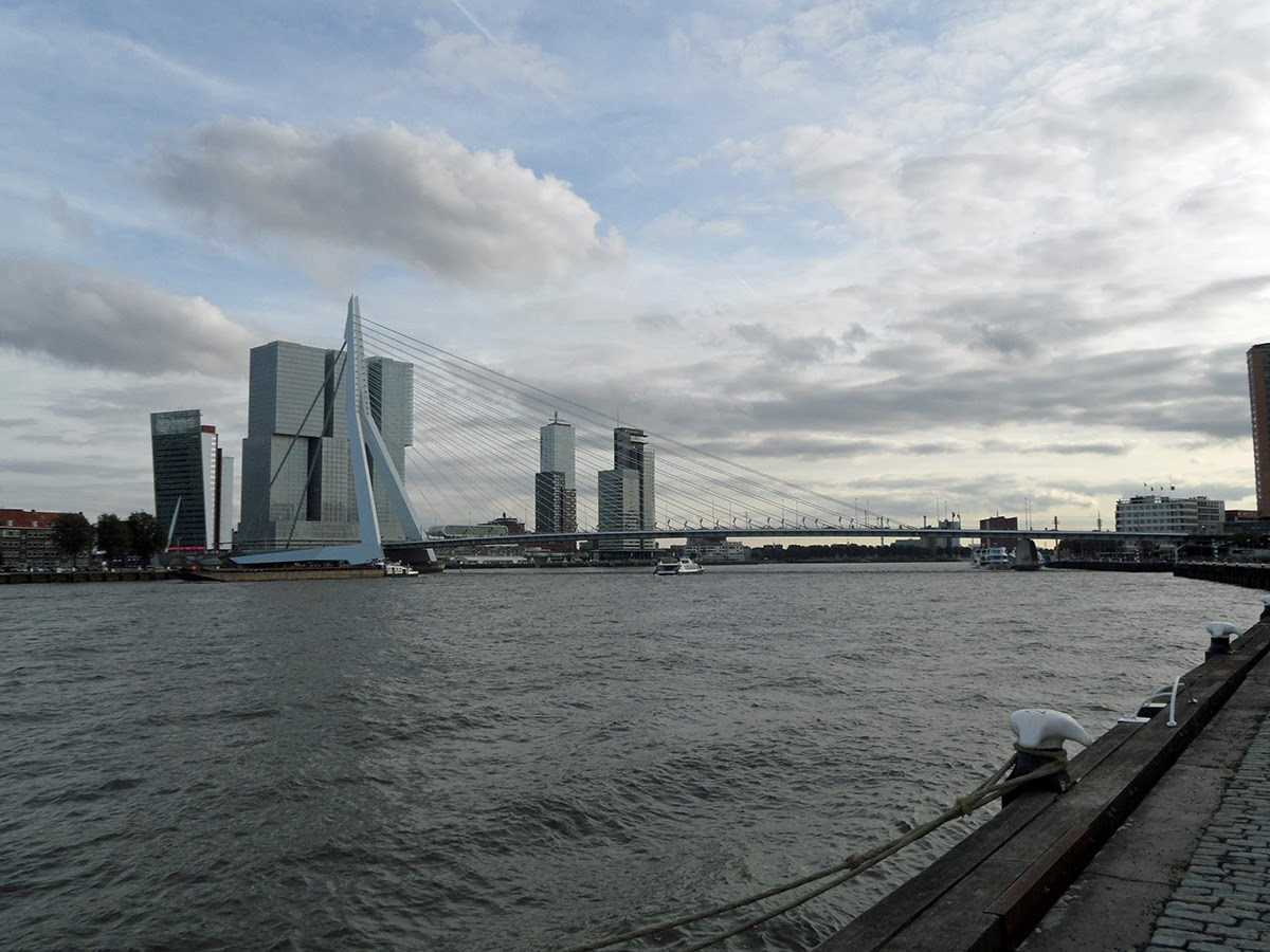 The Happy Pontist: Rotterdam Bridges: 1. Erasmus Bridge