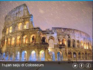 inovLy media : Hujan salju di Colosseum