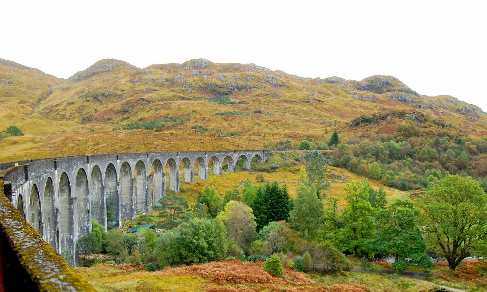 Leaving the Glenfinnan Viaduct