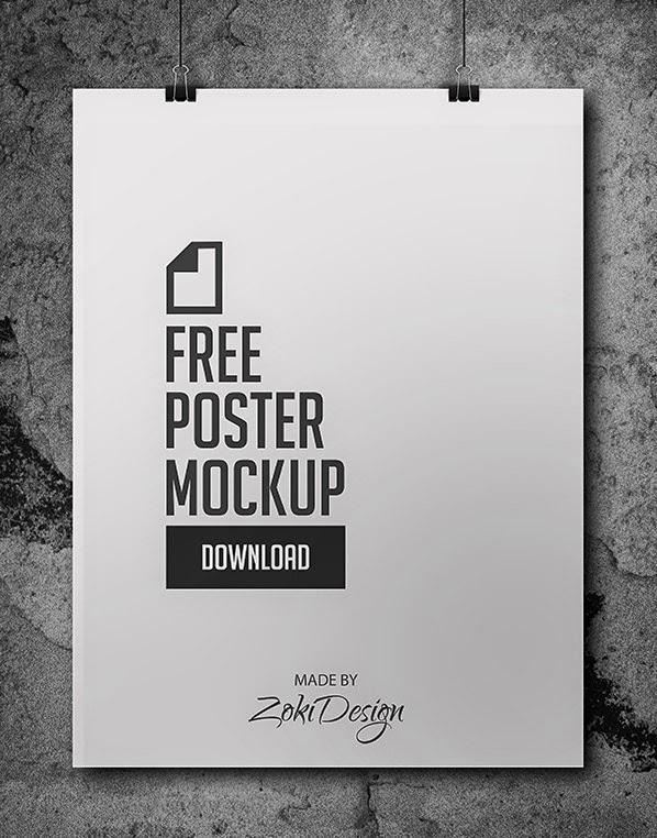 Download Poster Mockup Terbaru Gratis - FREE POSTER MOCKUP BY ZOKIDESIGN