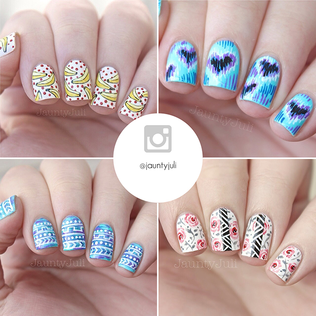 Instagram nail art accounts you need to follow 1 the shorties jauntyjuli instagram jauntyjuli prinsesfo Gallery