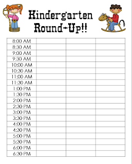 time slot sign up sheet template