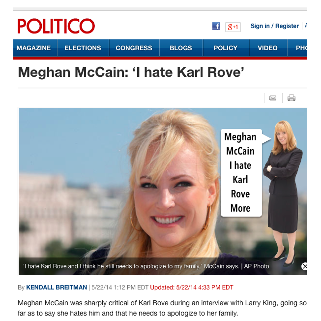 Meghan Mccain Update: ***UPDATE*** Message For Meghan McCain Too: OMG!!! Is The