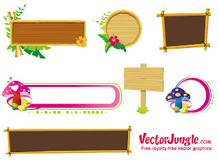 可愛い木製の空き看板 Banners and Frames