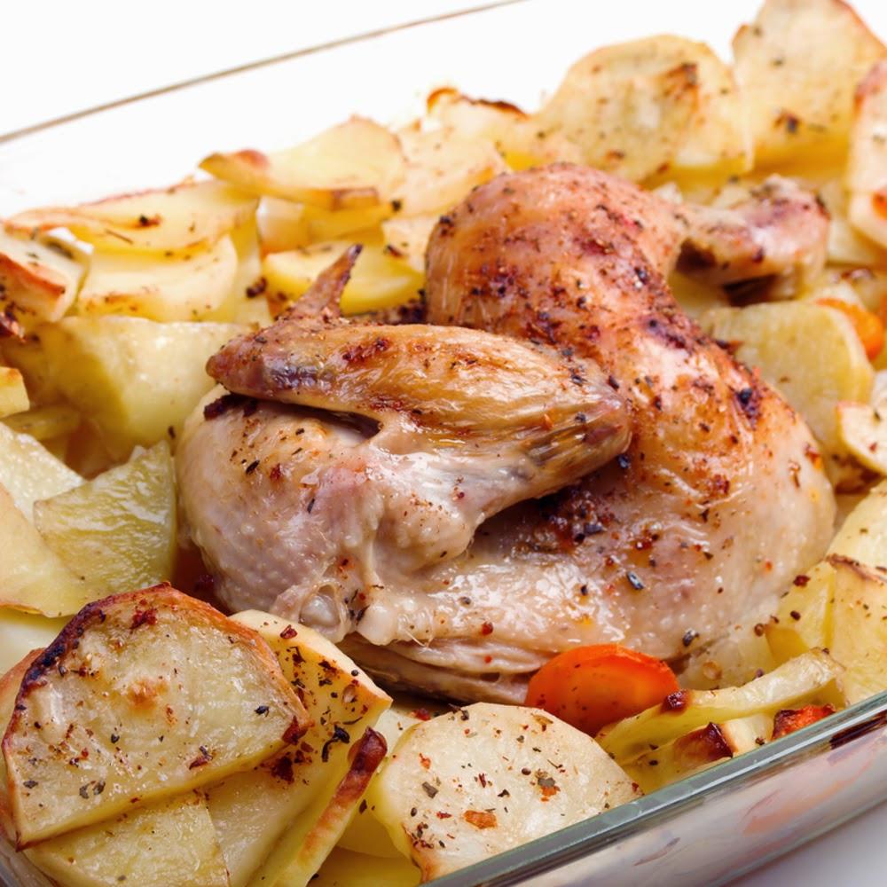 طريقة عمل صينية البطاطا مع الدجاج