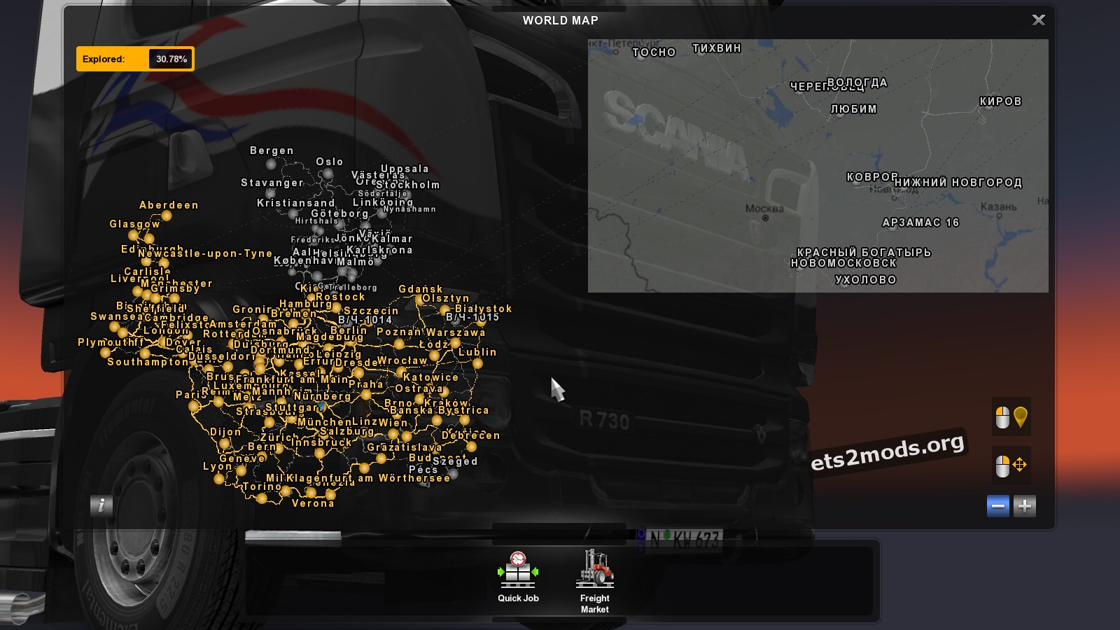 Russian open spaces map 2 4 ets2 mods for The russian mod