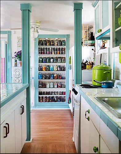 decoração casa pequena, decoração turquesa, casa de campo, cozinha turquesa