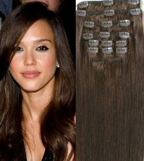 20 in. clip in hair extensions
