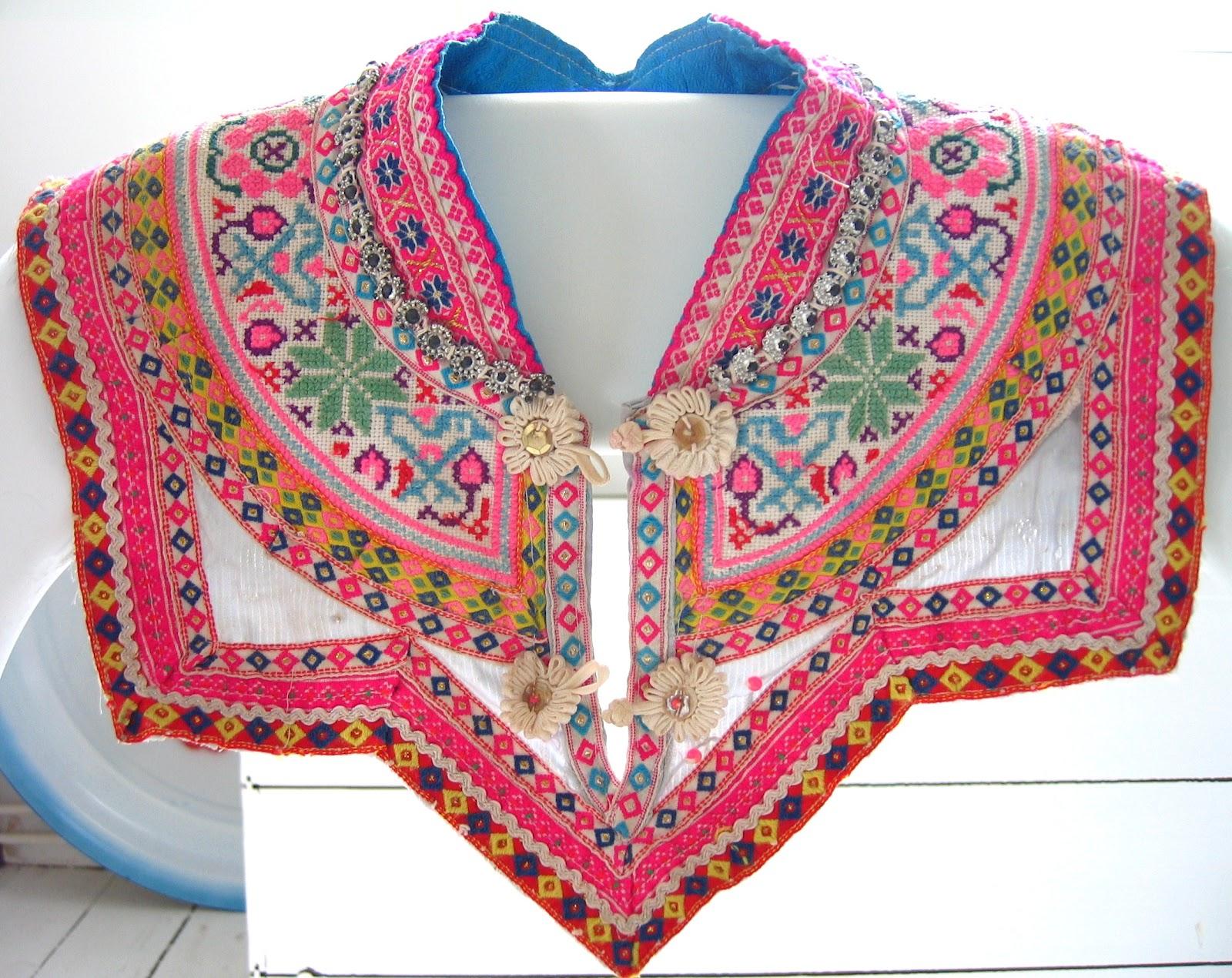 Byhaafner crochet vintage embroidery love from laos