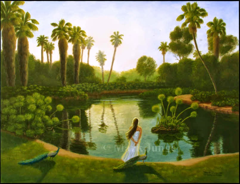 Los Angeles, LA,County,Arboretum,Balwin Lake,tropical,garden,lake,Baldwin,peacock,morning,girl,papyrus,palm trees,yellow,green,blue,sunrise,sunup,lake,water