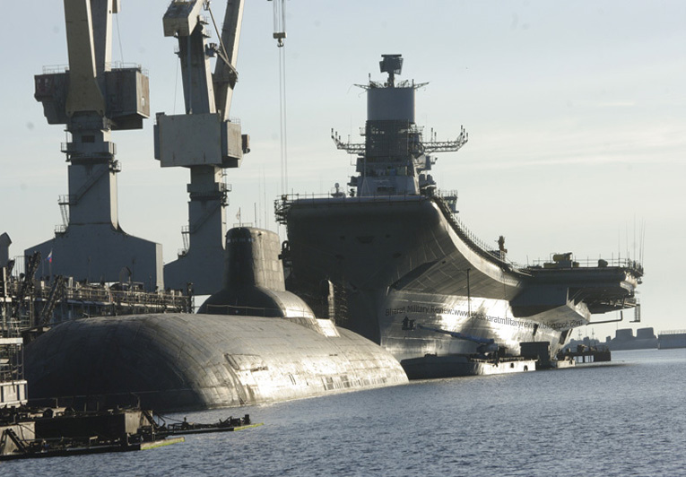 ins vikramaditya aircraft carrier in refit before delivery
