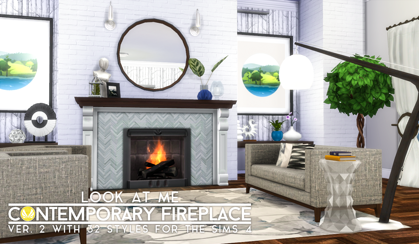 simsational designs updated look at me fireplace and walls