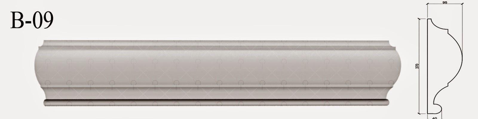 Brauri - Profile Decorative Polistiren pentru fatade case, producator, imagini, modele
