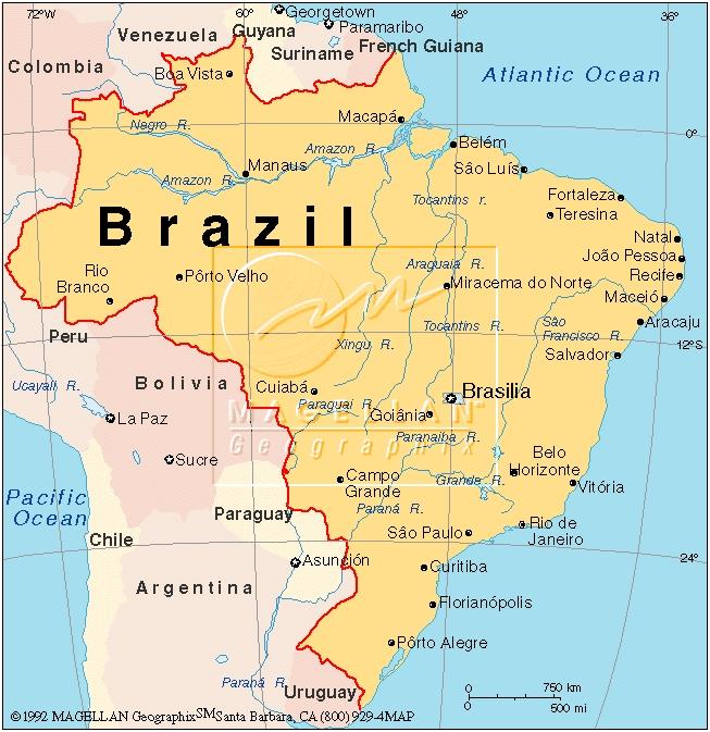 Mapa Político de América del Sur | Atlas Mundial (Tamaño