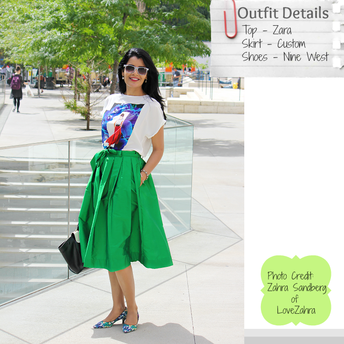 Silk Midi Skirt, Emerald Green Midi Skirt, Full Skirt Outfits, NYFW Street Style