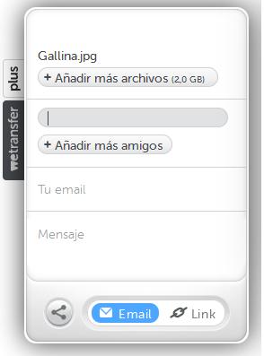 enviar archivos pesados