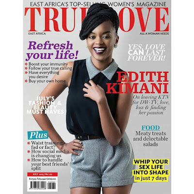 edith kimani as cover girl of true love magazine
