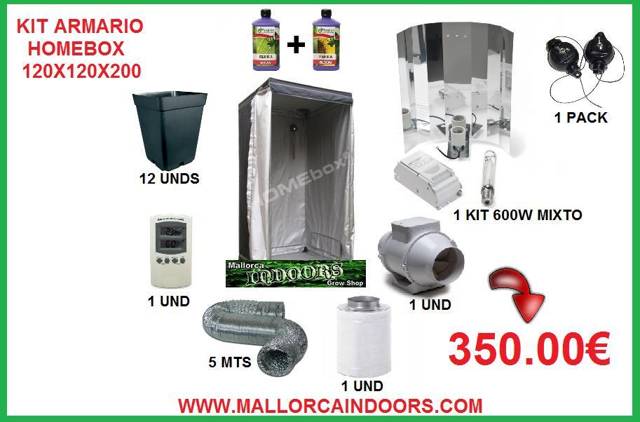 Mallorca indoors grow shop - Armario cultivo interior 120x120x200 ...