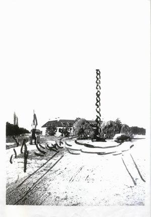 Croquis de La Columna Infinita hecho por Brancusi en Targu Jiu