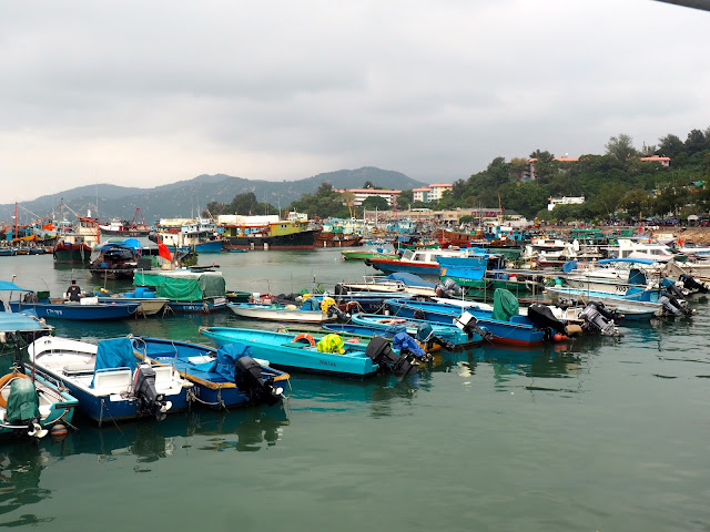 Fishing boats in the harbour at Cheung Chau Island, Hong Kong