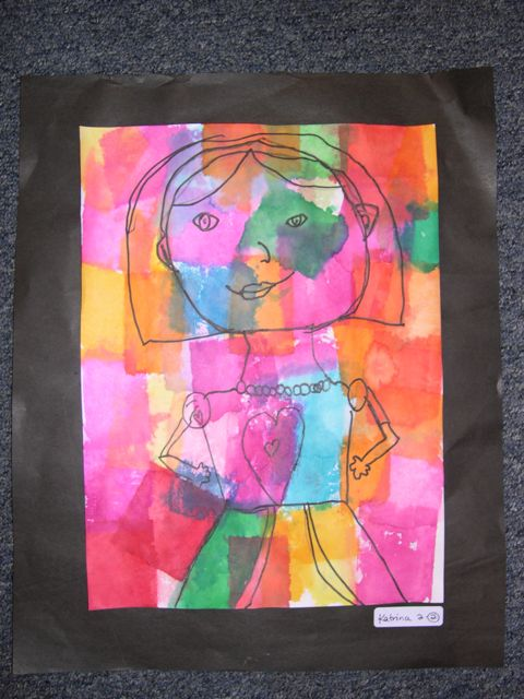 self portraits inspired by paul klee simply art lessons for kids