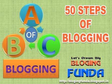 Beginners guide for ABC of Blogging with 50 steps for Blogging by BloggingFunda