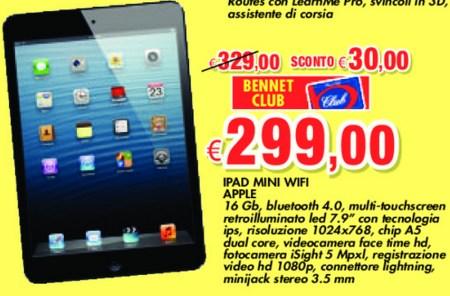 Sconto del 10% reale sull'iPad Mini da parte di Bennet con Carta Club