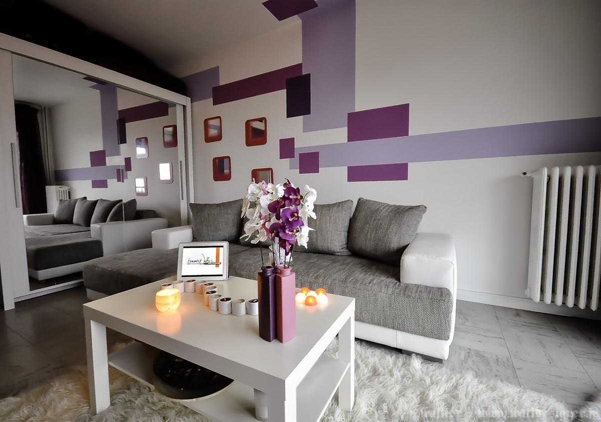 salas en violeta y gris salas con estilo. Black Bedroom Furniture Sets. Home Design Ideas