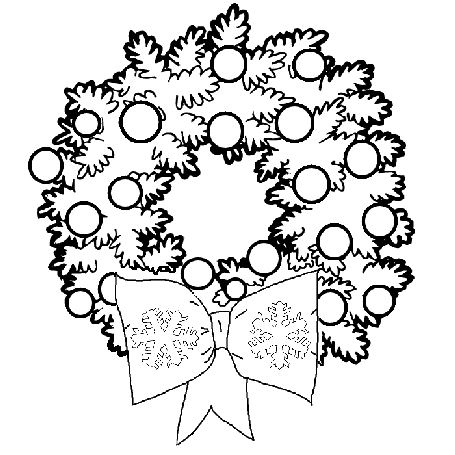 Decorated Christmas Wreath Clip Art Pictures And Coloring