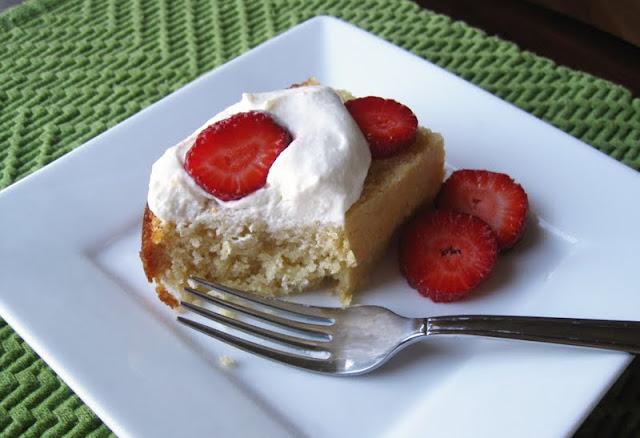 Strawberry Orange Shortcake - Sugar-Free Cake Recipe