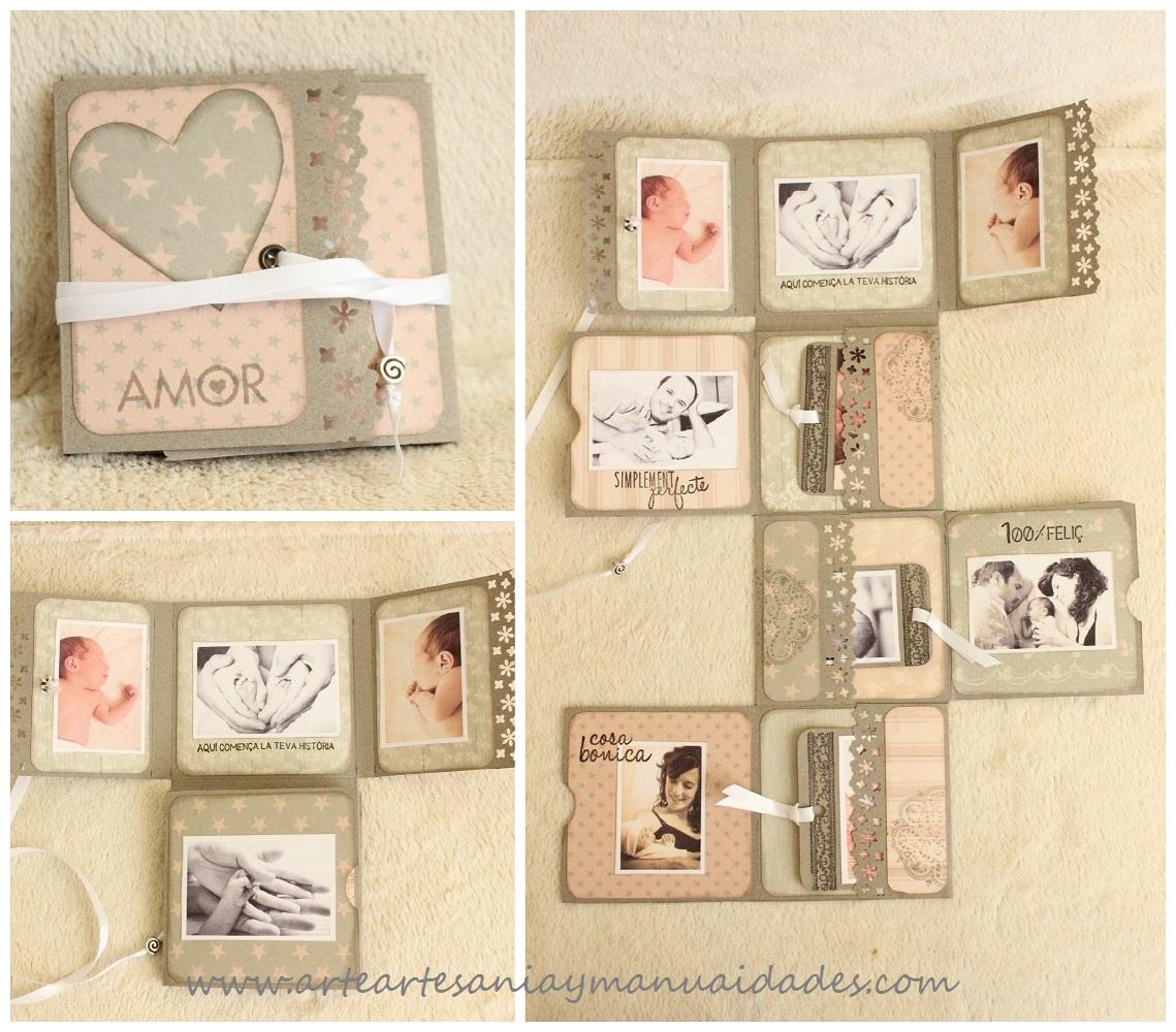 Arte artesania y manualidades mini lbum fold scrapbooking 39 sweet baby 39 - Decoracion de album de fotos ...
