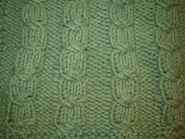 Knittingfool Stitch Gallery : Crazy Knitting Fools Finished Objects: Cross Stitch Cable Cloth